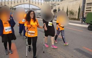 אורנית בהליכה נורדית מרתון ירושלים 2017